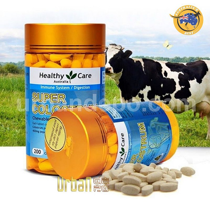 Healthy Care Super Colostrum 400mg - 200 Chewable Tablets