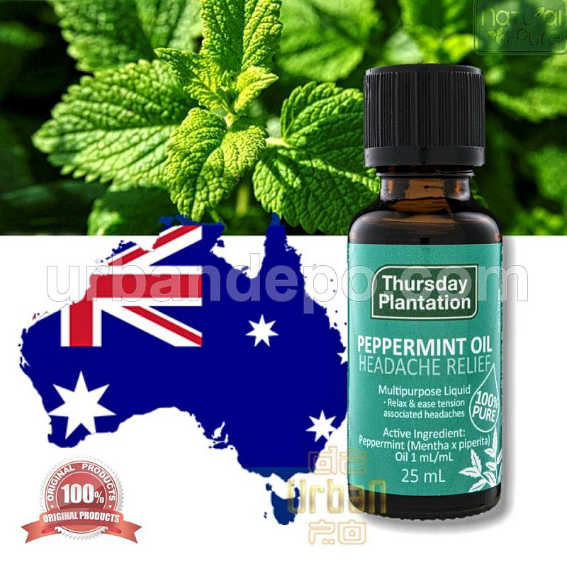 Thursday Plantation Peppermint Oil - Headache Relief 25ml - Original Made In Australia
